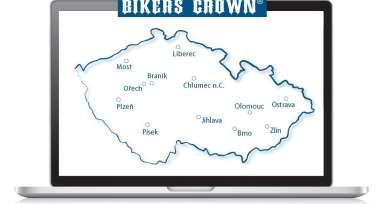 Navštivte nás na prodejnách nebo eshopu Bikers Crown